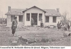 1907 Magura Teleorman, conacul lui M. Stefanide distrus de taranii rasculati resize
