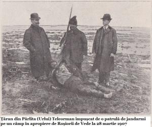 1907 taran din Parlita (Urlui) impuscat de o patrula langa rosiori de vede pe 28 martie